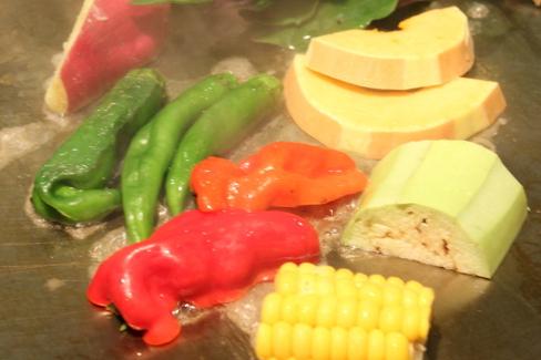 鉄板焼き野菜
